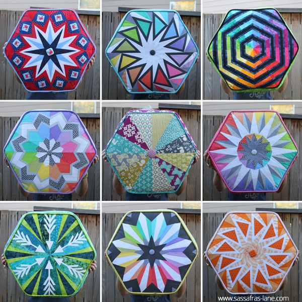 Arcadia Avenue Hexagonal Paper Pieced Quilt Pattern
